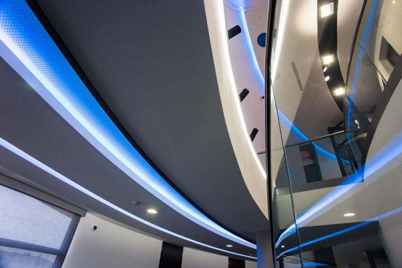 Moderní architektura- foto Ondřej Littera Hradec Králové, interiér planetária