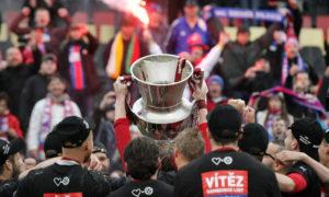 Vítězný pohár sportovní fotografie