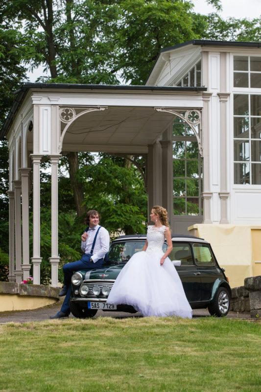 svatební fotografie v exteriéru
