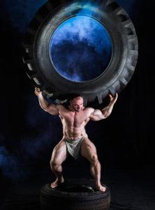 fotografie pro firmu Ditě - velká pneumatika